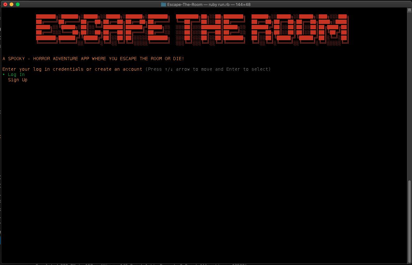 Main Menu - Escape the Room CLI