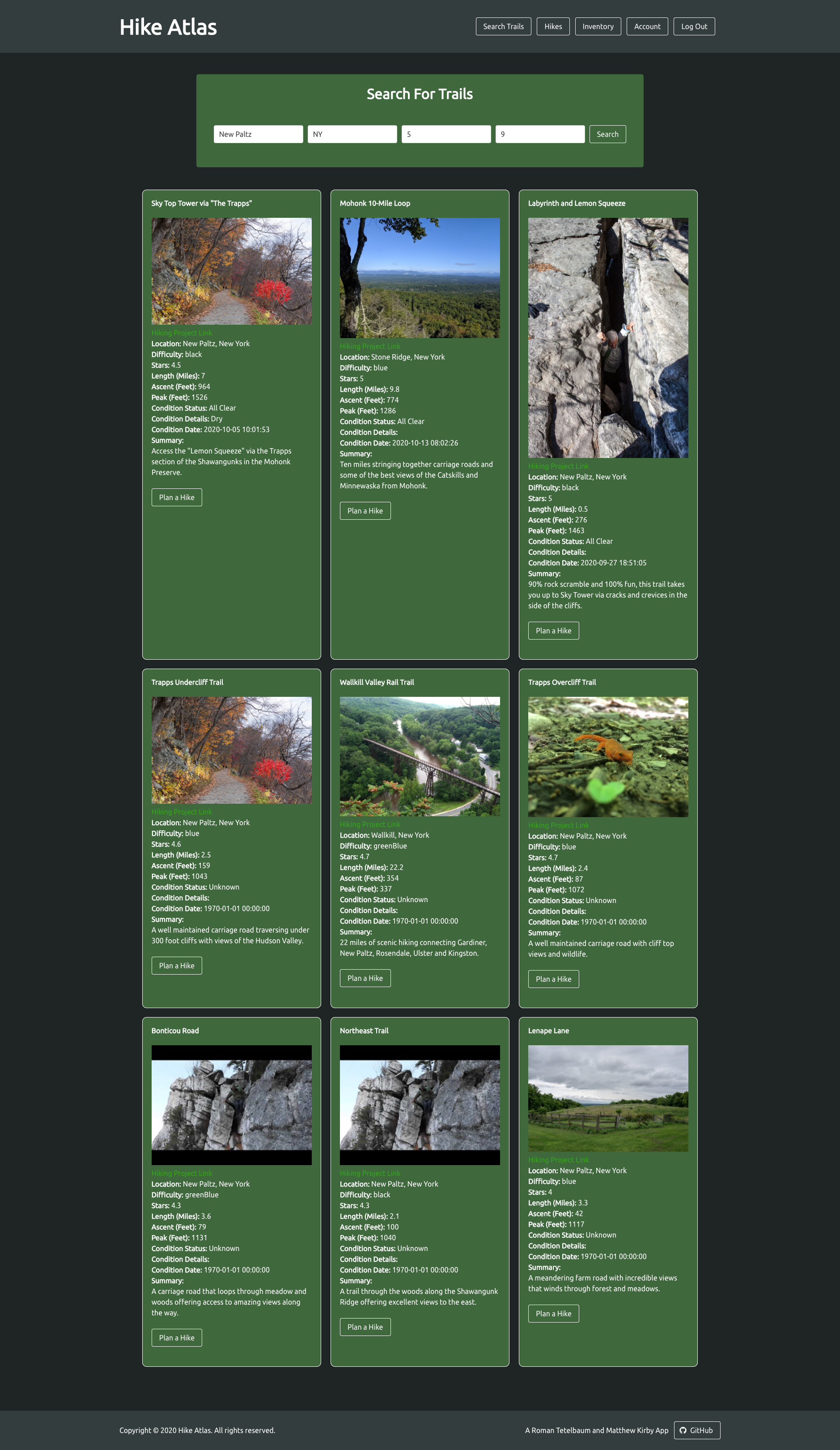 Hike Atlas Search Results