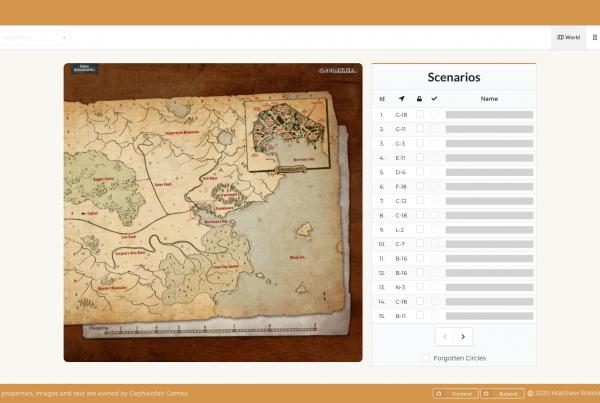 Gloomhaven Ledger Home Page Screenshot